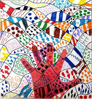 """The """"upside down art"""" project gives students the opportunity to create their own masterpiece."""