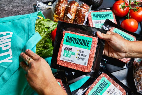Impossible Foods flagship plant-based burger product will now be sold at Kroger stores.