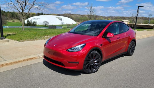The Tesla Model Y began making deliveries to customers before California's government shut down its Fremont manufacturing facilities. This Model Y is one of the first in Michigan.
