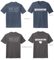 Quarantine T-shirts are being sold to raise money for the Food Bank of the Southern Tier.