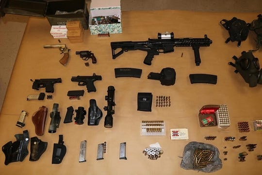 A Lehigh Acresman with a lengthy arrest record was found in possession of an assault-style rifle, ammunition and drugs when the Lee County Sheriff's Office served a search warrant at his home.