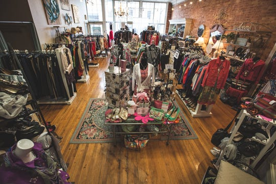 The interior of Sunrise on Main Boutique, 1240 Main St., Suite 2. Owner Joan Johnson recently purchased the Big Tomatoes building at 1244 Main St. She expects to complete renovations to the building and relocate the boutique and its nonprofit partner, Reset.Life, by the end of May.