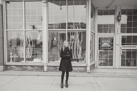 Joan Johnson, owner, Sunrise on Main Boutique, in Green Bay's Olde Main Street District, was one of the first businesses featured in the new Downtown Faces Forward campaign to raise awareness of small business owners.