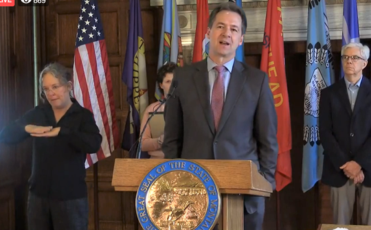 Gov. Steve Bullock on Tuesday discusses emergency grants to be available later this week in Montana.