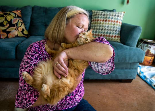 Laura Cearley has been a foster parent for animals for 17 years. Taffy was her recent foster pet in Jackson, Tenn.