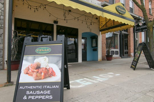 Cello Italian Restaurant, shown Tuesday, May 5, 2020, is among one of several Adam Merkel Restaurants in Howell. A former bartender  says she was unfairly fired during the coronavirus crisis.