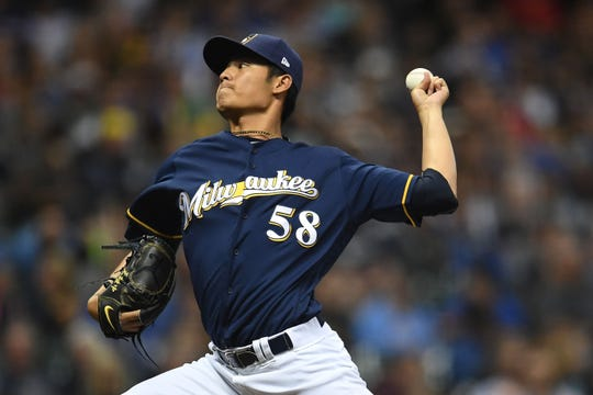 Wei-Chung Wang pitched for the Brewers in 2013 and '17 and then  tried his hand in the KBO.