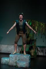 "A scene with Andrew Greiche from Alabama Shakespeare Festival's ""A Midsummer Night's Dream,"" which performed for SchoolFest and school tours, but had its ASF garden performance canceled because of coronavirus restrictions."