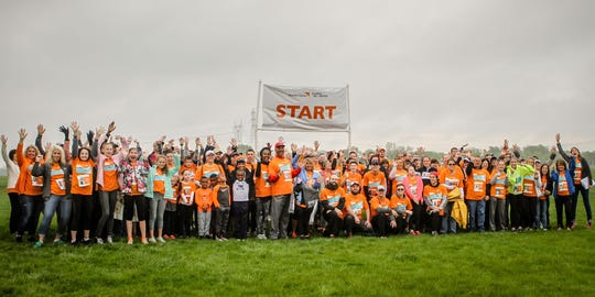 A picture of participants in East Central Indiana's Global 6K in 2019.