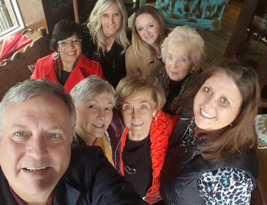 Longtime Nashville Realtor Vernice Bryan, center, inspired many in the industry. She is pictured here with her son Richard Bryan, front row from left, daughter Kathleen Thompson and Monica Baker; and back row, from left, Chole Hernandez, Stephanie Hollis, Rachel Cothern and Gloria Riches.