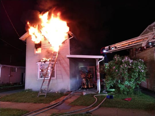 No civilian injuries were reported in a fire on North Buena Vista in Newark on Monday, May 4, 2020, but Newark Fire Chief Patrick Connor said investigators are investigating the fire as arson.