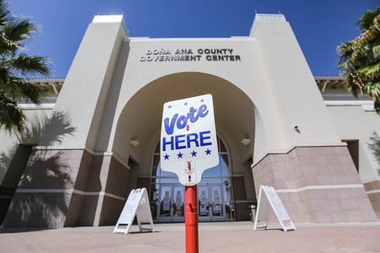 Voting polls open up at the Doña Ana County Government Center in Las Cruces on Tuesday, May 5, 2020.