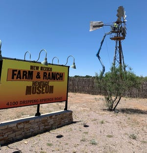On Monday May 4, 2020, one of three windmills at the Farm and Ranch Heritage Museum in Las Cruces, was moved to its new location at the entrance of the property.
