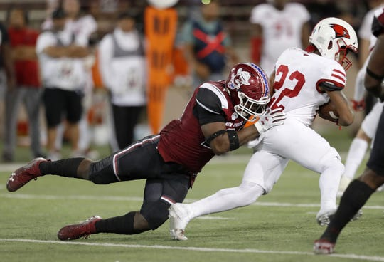 Rashie Hodge Jr., made an impact for the New Mexico State football team last year as a junior college transfer. He returns as one of the best players on the New Mexico State roster.