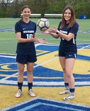 Former Livonia Stevenson High soccer teammates Abby Werthman, left, and Nikki Verant will be teaming up at Madonna University in the future.