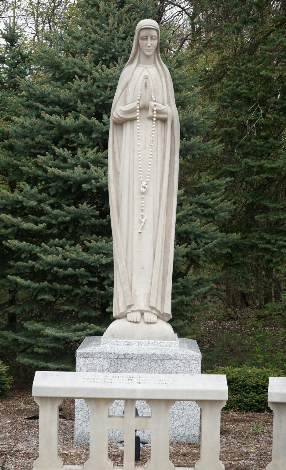 Statuary of Mary at the Felician Sisters' campus in Livonia.