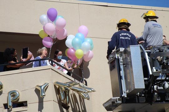 Phoenix Fire Department helped Bea Markow celebrate her 100th birthday, while keeping social distancing in mind.