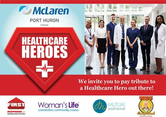 Nominate a local Blue Water Area Healthcare Hero today.