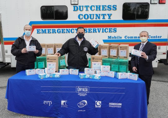 Dutchess County received a donation of 25,000 masks from the Greater New York Automobile Dealers Association on Monday, May 4, 2020.