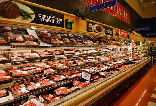 The meat case at Weis Markets on Roosevelt Avenue in West Manchester Township, Tuesday, May 5, 2020. Dawn J. Sagert photo
