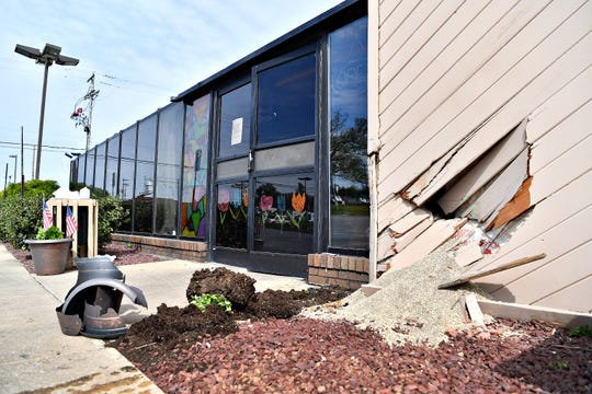 Dallastown Family Restaurant, in York Township, sustained structural damages when a car crashed into the building just after 8 a.m., Tuesday, May 5, 2020. Dawn J. Sagert photo