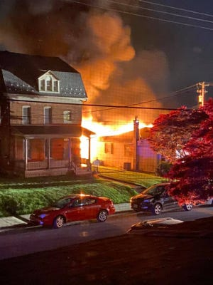 A fire in Red Lion Borough Tuesday morning has displaced several people.