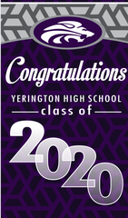 Yerington is honoring its class of 2020 with banners throughout town.