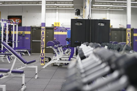 Hagerstown Jr./Sr High School's new weight room features custom-made equipment and is the first update to the facility in more than two decades.