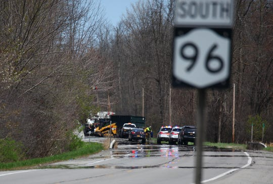 A crash  on Route 96 in Manchester killed two people Tuesday, May 5, 2020.