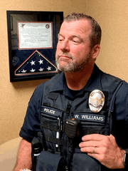 Redding police Cpl. Will Williams is shown here in a Facebook photo by the Redding Police Department in November of 2019 in reference to the agency's No Shave November challenge.