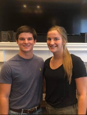 Wall juniors Pierce Stephens, left, and Kaitlyn Stephens, were hoping for a big spring to go into their senior year for the Hawks and Lady Hawks. Instead, the COVID-19 pandemic caused cancellations of all UIL activities.