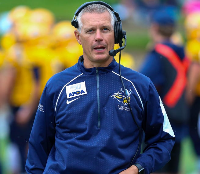 Jerry Olszewski enters his 8th season as Augustana football coach in 2020.