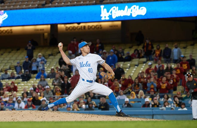 Mt. Whitney High School graduate Holden Powell is a pitcher on the UCLA men's baseball team.