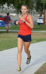 Shannon Mckinzie is a senior on the Tulare Western High School track and field team.