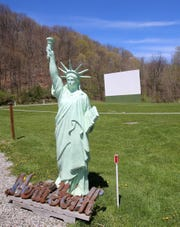 The drive-in theater at Four Brothers Pizza Inn on Route 22 in Amenia, owned by the Stefanopoulos family, photographed May 5, 2020, will be the site for the North Salem graduation in June.