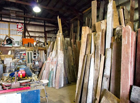 The Barn Owl's Warehouse in Rock Falls features barn wood of all shapes and sizes. Along with reclaiming lumber from barns and corn cribs, Dan Sutton also reclaims lumber from the floors of semi truck trailers.