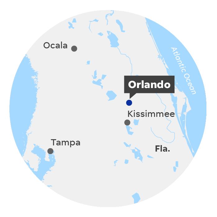 Orlando, Fla. locator map