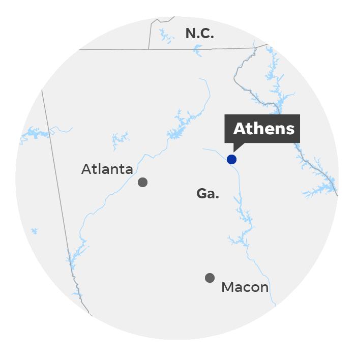 Athens, Ga. locator map