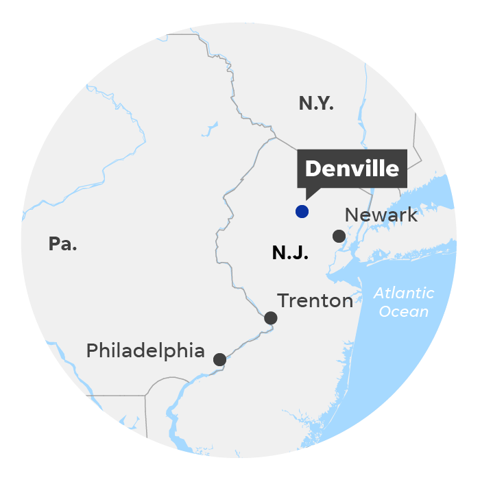 Denville, N.J. locator map