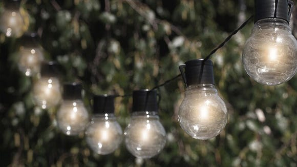 Nab these hanging string lights for your outdoor space.