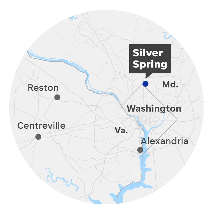 Silver Spring, Md. locator map