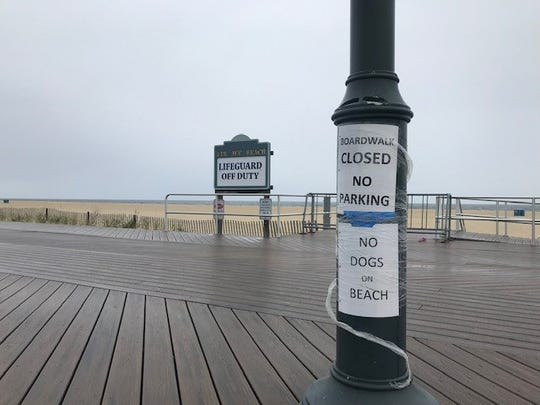 Belmar boardwalk on May 6, 2020.