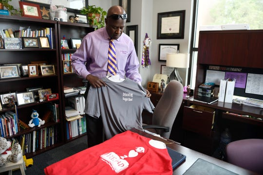 Dr. Bruce Wilson is the principal at Miller High School, as seen photographed on Wednesday, May 6, 2020. Wilson has been a principal at Evans Elementary School, Driscoll Middle School as well as Miller High School.