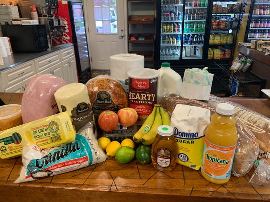 Groceries for sale at Jenni's Cafe in Branchburg.