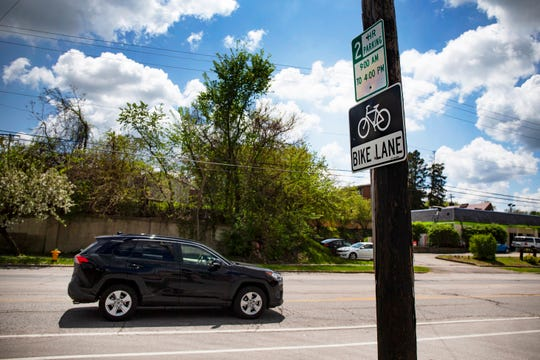 Ingersoll Avenue is seen on May 6, 2020, in Des Moines. The streetscape plan is set to include wider pedestrian walkways and bike lanes on both sides of the avenue.