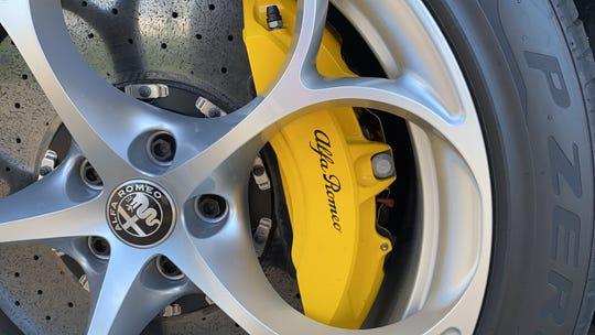 Carbon Ceramic Brembo brakes are an $8,000 option on the Stelvio Quadrifoglio.