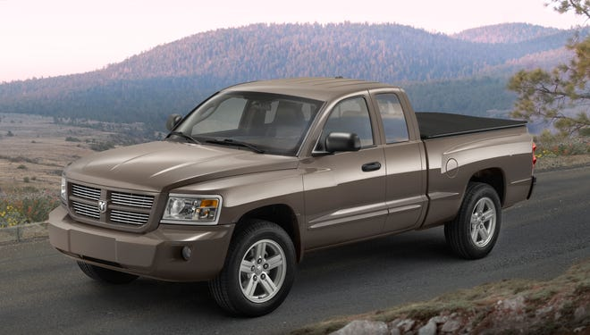 """Fiat Chrysler has filed for a trademark for """"Dakota,"""" raising the prospect that the company could be relaunching its midsize truck model. It likely would be a Ram, however, rather than a Dodge like this 2009 Dodge Dakota Sport Extended Cab."""
