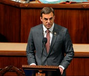 Rep. Justin Amash, I-Mich., speaks as the House of Representatives debates the articles of impeachment against President Donald Trump at the Capitol in Washington in this Dec. 18, 2019, file photo.