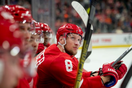 Detroit left wing Justin Abdelkader had just three points -- and no goals -- in 49 games this season.