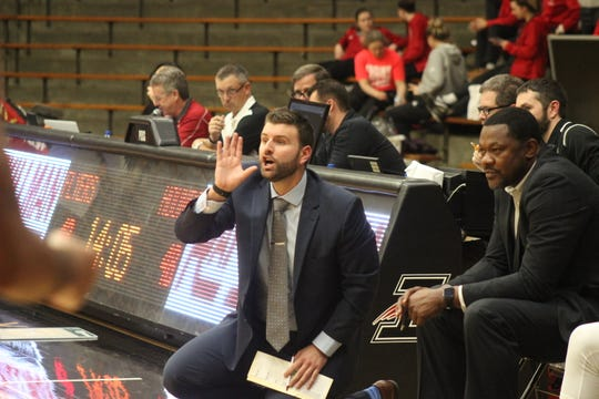 Former UIndy assistant coach John Spruance joins Stan Gouard on his new staff at the University of Southern Indiana.